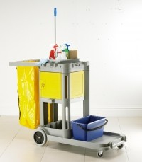 Structocart 'Carry All' Mobile Cleaners Plastic Trolley - Grey