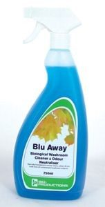Blu-Away Biological Washroom Cleaner and Odour Neutraliser 750ml