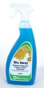 Blu-Away Biological Washroom Cleaner and Odour Neutraliser 750ml