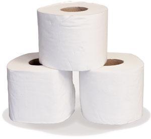 Mini Jumbo Single Ply Luxury Toilet Tissue 150 mtr