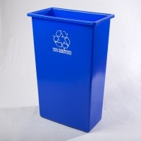 Slim Jim® - Tall Boy Recycle Waste bin base only Blue