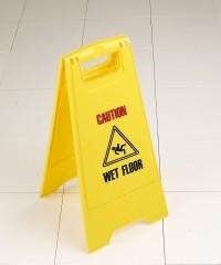 Economy Plastic Safety Sign - Caution Wet Floor